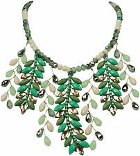 Collier Kette Halskette Statement Extravagant Grün  groß Kristall exklusiv