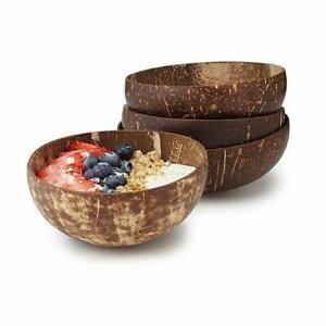Reusable Single Natural Coconut Shell Bowel Handcraft for Serve Desserts and Bev