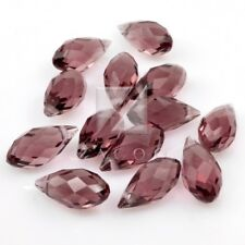 10pcs 12mm Crystal Teardrop Beads Faceted Top Drilled Jewellery CR0231 Purple