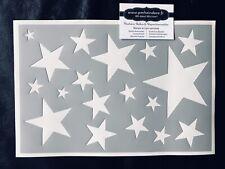 Pochoir Adhésif Réutilisable 30 x 20 cm Planche Étoiles Made In France