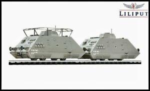 Liliput H0/HO - 'L136500' SET 1 - Armoured Train - Epoch II - Mint.
