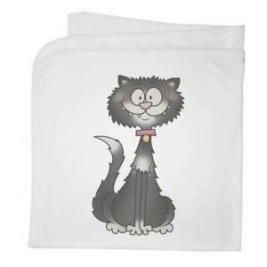 'Black & White Cat' Cotton Baby Blanket / Shawl (BY00019134)