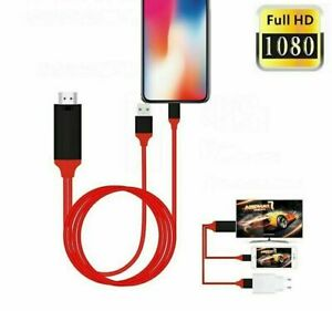FAST to HDMI TV 1080P AV Adapter Cable for iPad iPhone 8 Plus X XS XR 11 7 Light