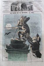 CARICATURE ROUHER NAPOLÉON III JOURNAL SATIRIQUE L'ECLIPSE N° 176 de 1872