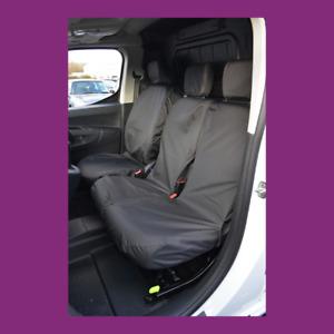 Citroen Berlingo Van 2018+ Waterproof Tailored Front 3 Black Seat Covers UK MADE