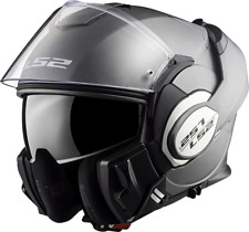 Ls2 casco de moto Valiant mate Titanium Tamaño m