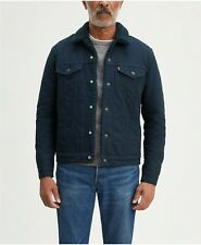 Levis Canvas Sherpa Trucker Jacket Regular Fit Levi's Dress Blues 0117 All Sizes