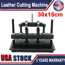 New listing 300X150mm Manual Leather Cutting Machine Die Cut & Leather Embossing Machines Us