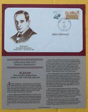POSTAL COMMEMORATIVE ENVELOPE - AL JOLSON