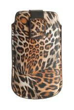 4-OK UP! Leopard Tasche Hülle Etui Case Schwarz für HTC Google Nexus One