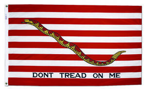 US Navy Jack Flag  Don't Tread On Me  Annin 3x5 316100 NYL-GLO Made USA Priority