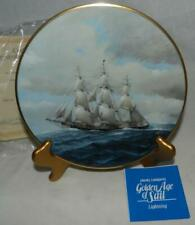 "Mib 1981 Golden Age of Sail ""Lightning"" #7 by Charles Lundgren Plate"