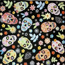 4 x paper napkins for decoupage, Mexican skull.4 Servilletas decoradas calaveras