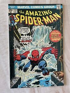 AMAZING SPIDER-MAN #151-CLASSIC COVER-CONTROVERSIAL DESTRUCTION OF CLONE VF+ 8.5