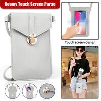Women Crossbody Cell Phone Purse Touch Screen Case Wallet Chic Shouder Strap Bag