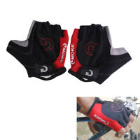 Red L Sports Racing Cycling Motorcycle MTB Bike Bicycle Gel Half Finger Gloves