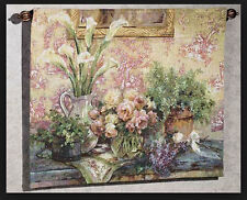 The Love of Flowers ~ Les Fleurs D'Amour Grande Tapestry Wall Hanging ~ Lena Liu