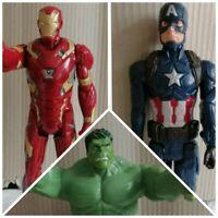 Marvel 12 inch figures bundle, Iron Man (with sounds) Captain America & Hulk