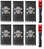6 X Pirate Jolly Roger Skull & Crossbones Flag  Party Bunting Pole & String 5.1m