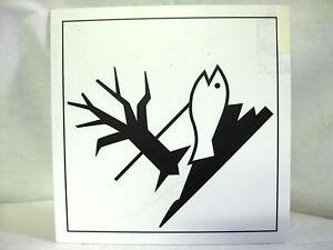 GHS-Symbol 09 Umwelt - umweltgefährdend Schild 29x29cm Gefahrenstoffe Warnschild