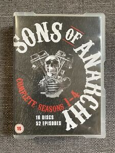 Sons Of Anarchy Complete Seasons 1-4 DVD Boxset 16 Discs 52 Episodes