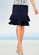 Ashley Brooke Ruffled Skirt Navy Size UK 16 rrp £49.00    SA079 MM 03