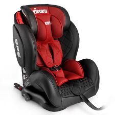 Autokindersitz Autositz Kinderautositz mit ISOFIX 9-36kg Gruppe 1+2+3 Leder Rot