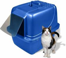 Van Ness Extra Large Blue Enclosed Cat Litter Box Anti-Odor Covered Kitty House