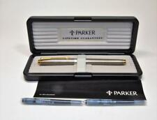 NIB 1999 Parker 75 MD Sterling Silver Cisele Fountain Pen 14k gold M nib France