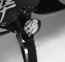 99-07-08-17 Hayabusa Chrome 3D Pocket Engraved Kickstand Center Nut Cover Cap!!