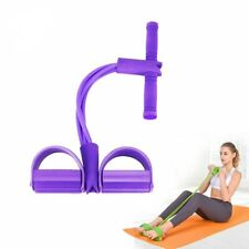 Fitness Gum 4 Tube Resistance Bands Latex Pedal Exerciser Sit Up Pull Workout