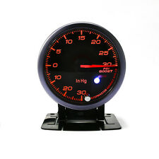 "2.5"" 60mm Car Turbo Boost Gauge PSI Pointer LED Display Boost Gauge Sensor 12V"
