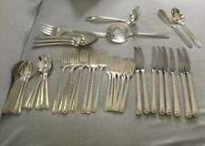 53 pc 1945 BORDEAUX Prestige Plate Silverplate Flatware Set Grill Forks + More