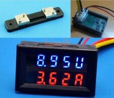 100V 50A DC Digital Voltmeter Ammeter LED Amp Volt Meter w/Shunt For 12v 24v Car