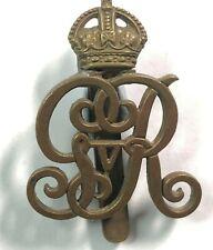WW1 Norfolk Yeomanry (Kings Own Royal Regiment) Cap Badge old repair genuine