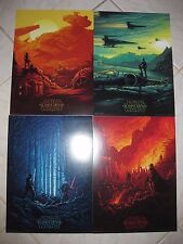 STAR WARS THE FORCE AWAKENS 2015 AMC IMAX Exclusive Mini Set Of 4 Movie Posters