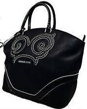 Borsa Donna Shopping Bag Versace Jeans Donna Fashion Bag Strass Black