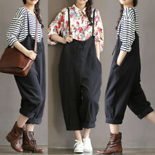 Women Fashion Overall Casual Loose Baggy Long Sleeve Jumpsuit Trousers Pants