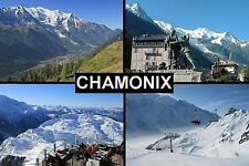 SOUVENIR FRIDGE MAGNET of CHAMONIX FRANCE SKIING