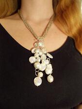 Collana cluster con perle d'acqua dolce, biwa, barocche fatta a mano