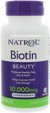 Maximum Strength Biotin by Natrol, 100 tablet 1 Bottle