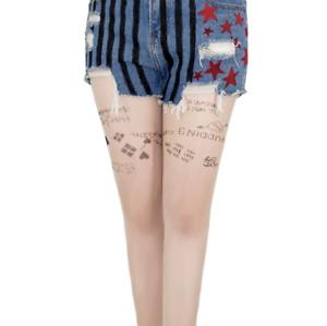Birds of Prey Harley Quinn Tattoo Hosiery Sexy Long Stocking For Women Shorts