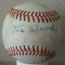 Joe Wood & Old Timers signed baseball