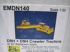 EMD D9H Dozer + D9H w/40' Balderson Blade 1/50 NIB