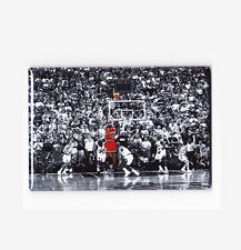 "MICHAEL JORDAN / FLU GAME LAST SHOT 2""x3"" POSTER FRIDGE MAGNET nike air costacos"
