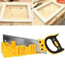 """12in ABS Plastic Clamping Mitre Box Multiple Angle with 14"""" Back Saw Woodworking"""