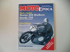 MOTO STORICHE E D'EPOCA 11/1995 HONDA CR 750/DUCATI 175/VELOX 125/MORINI 250 BI.