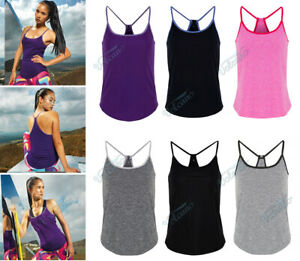 WOMEN'S YOGA VEST TOP. WICKING FABRIC.  RACERBACK FOR EASE OF MOVEMENT. XS - XL