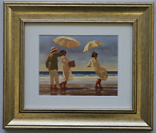 The Picnic Party by Jack Vettriano Framed & Mounted Art Print Picture Gold