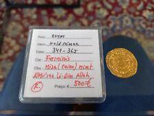 egypt GOLD dinar 341-365 fatiminis cairo mint - very good condition rare